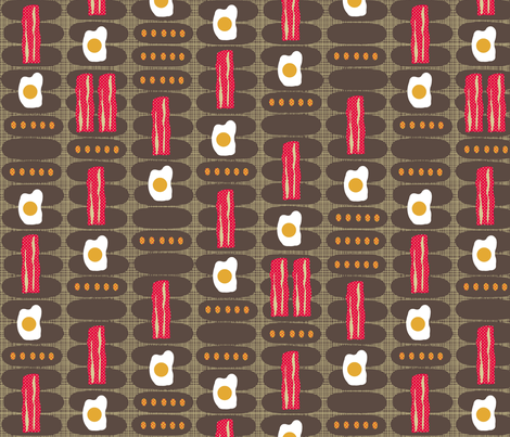 a perfect breakfast fabric by scrummy on Spoonflower - custom fabric