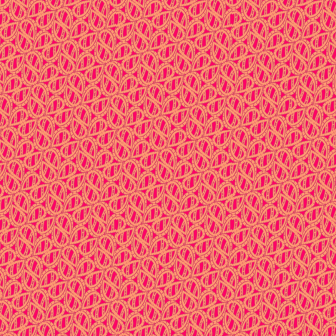 retro_paisley_coral_heat fabric by glimmericks on Spoonflower - custom fabric