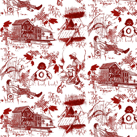Huck Finn / white fabric by paragonstudios on Spoonflower - custom fabric