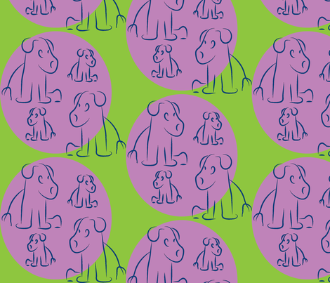 Grape-Plum Pups-ch fabric by lesser_george on Spoonflower - custom fabric