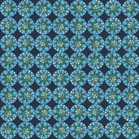 Julitha (Blues) fabric by bippidiiboppidii on Spoonflower - custom fabric
