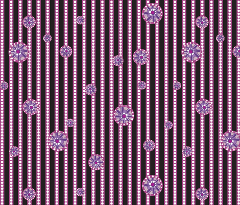 Julitha (Midnight stripe) fabric by bippidiiboppidii on Spoonflower - custom fabric