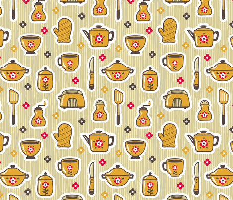 what's cooking? fabric by tabula_rosi on Spoonflower - custom fabric