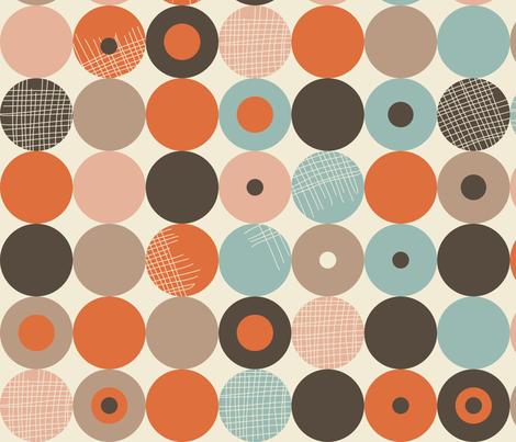 abstract retro circles fabric by anastasiia-ku on Spoonflower - custom fabric