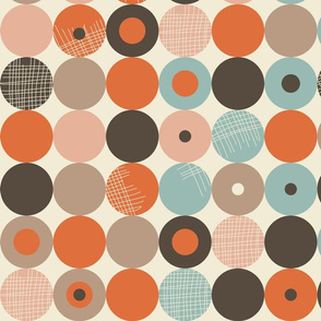 abstract retro circles