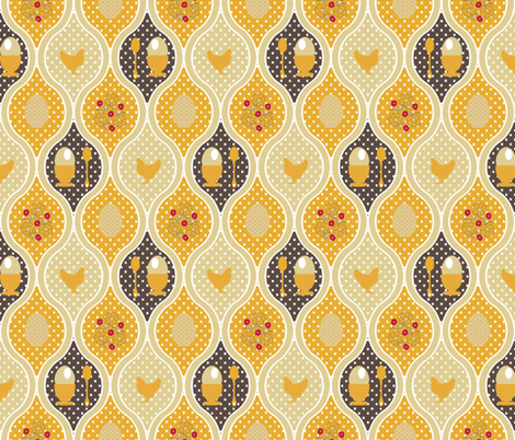Egg Cup fabric by kdl on Spoonflower - custom fabric