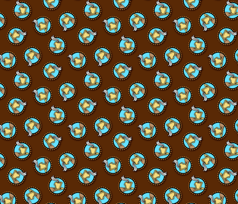 A nice cup of coffee fabric by hannafate on Spoonflower - custom fabric