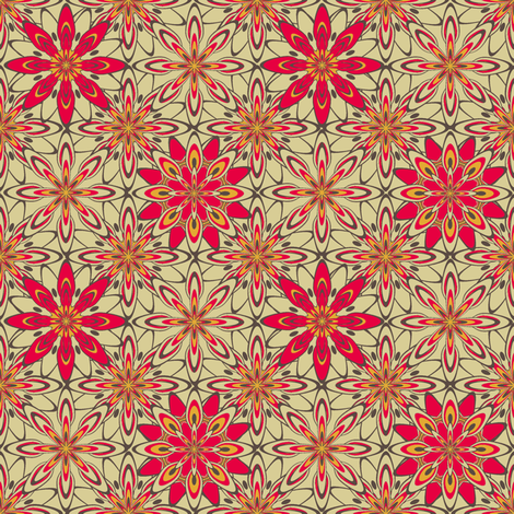 WildDaisey-Retro-ch fabric by grannynan on Spoonflower - custom fabric
