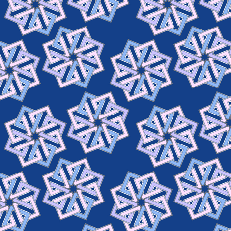 Shades of blue geometric fabric by hannafate on Spoonflower - custom fabric