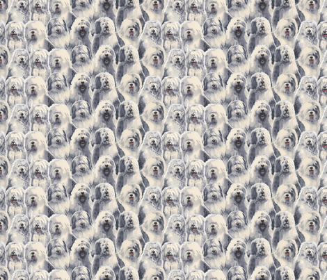Old English Sheepdogs fabric by oesgirl on Spoonflower - custom fabric
