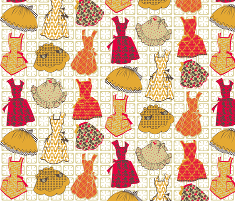 Yummy Retro Mummy fabric by meredithjean on Spoonflower - custom fabric