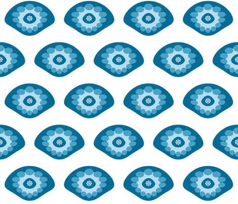 Blue Shell fabric by brainsarepretty on Spoonflower - custom fabric