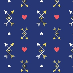 Criss Cross Arrows on Yellow