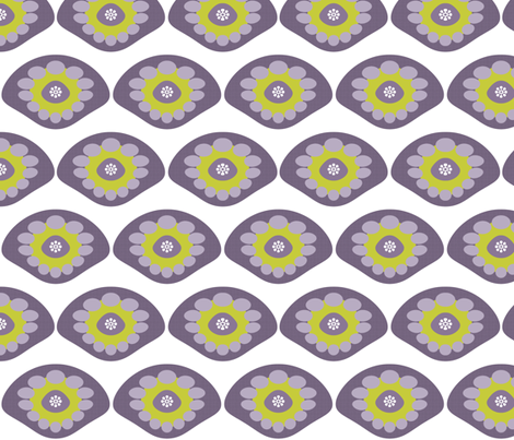 Purple Shell fabric by brainsarepretty on Spoonflower - custom fabric