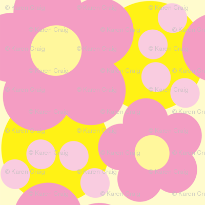 Pink and Yellow Floral 2