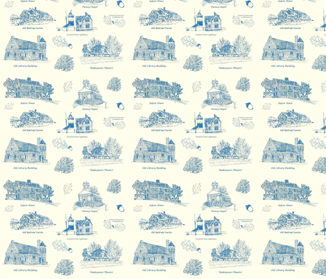 BlueCreamStratfordToile fabric by joofalltrades on Spoonflower - custom fabric