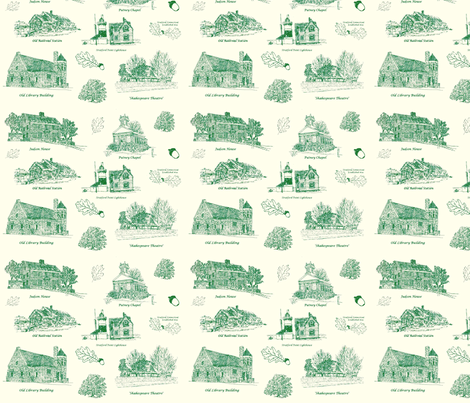 GreenCreamStratfordToile fabric by joofalltrades on Spoonflower - custom fabric
