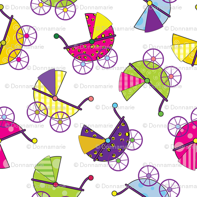 Colorful Baby Carriages
