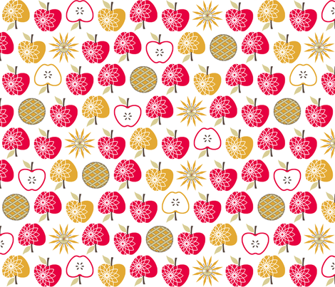 Always Time for Apple Pie fabric by inscribed_here on Spoonflower - custom fabric