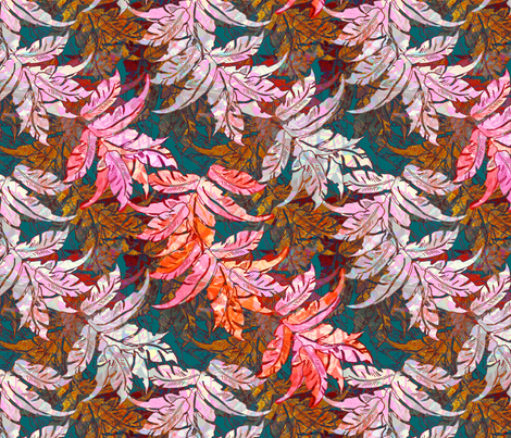Leaves Barkcloth Memories fabric by joanmclemore on Spoonflower - custom fabric