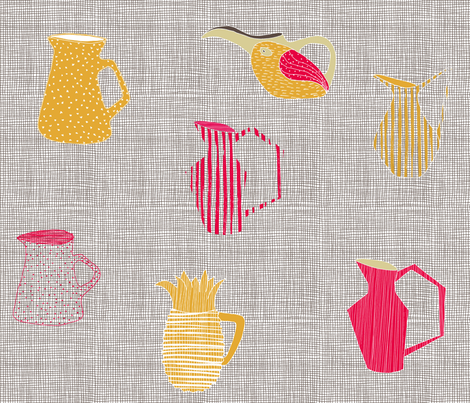 Retro Kitchen / Legeret Design fabric by legeretdesign on Spoonflower - custom fabric