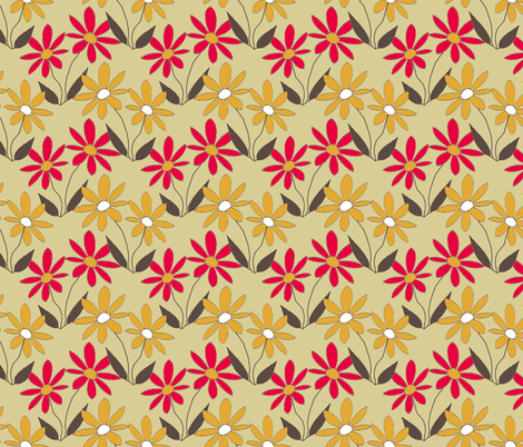983239_rAdaisyNew-retroDaisy-ch fabric by grannynan on Spoonflower - custom fabric