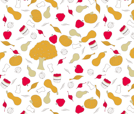 Harvest Toss fabric by carmenscottagecreations on Spoonflower - custom fabric