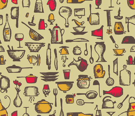 kitchen_retro-01 fabric by isbelo on Spoonflower - custom fabric