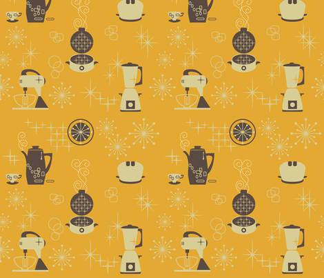 retro_kitchen fabric by stella12 on Spoonflower - custom fabric
