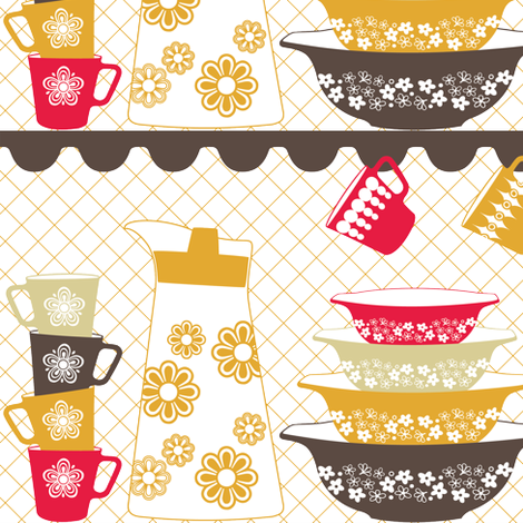 PYREX LOVE fabric by natasha_k_ on Spoonflower - custom fabric