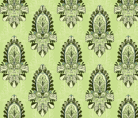 Deco Flourish fabric by holly_helgeson on Spoonflower - custom fabric