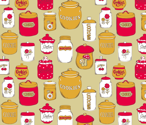 AmandaMcGee_CookieJars fabric by amandamcgee on Spoonflower - custom fabric
