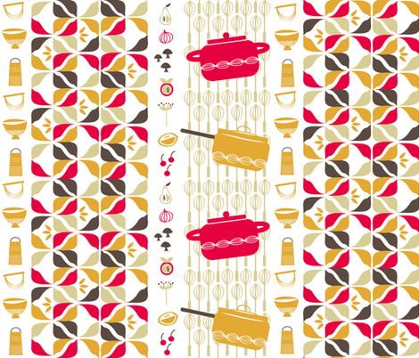sunday dinner fabric by fable_design on Spoonflower - custom fabric