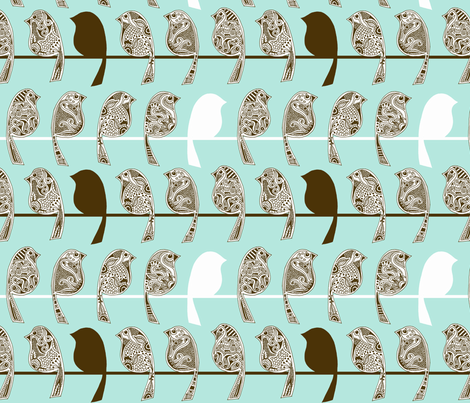 Henna Birds fabric by dianef on Spoonflower - custom fabric