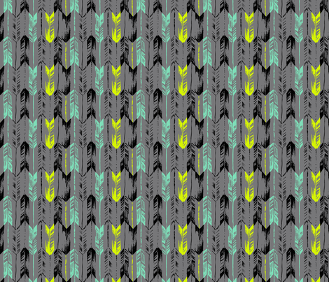 ARROW_LINE_SPEARMINT fabric by pattern_state on Spoonflower - custom fabric