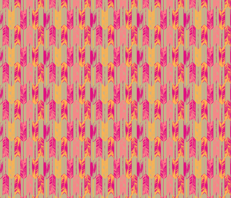 ARROW_HOT PINK fabric by pattern_state on Spoonflower - custom fabric