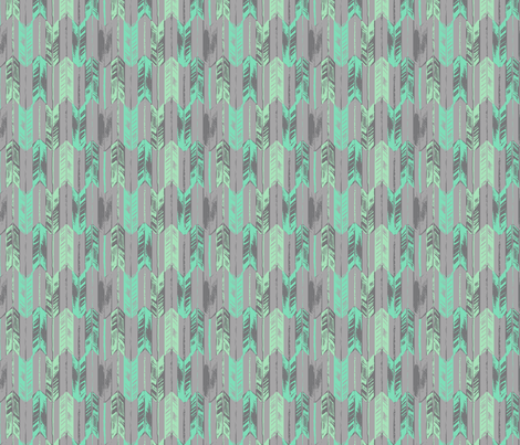 ARROWS_MINT fabric by pattern_state on Spoonflower - custom fabric