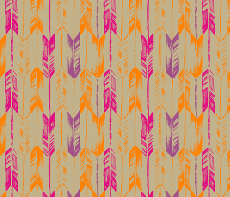 ARROW_LINE_TANGERINE fabric by pattern_state on Spoonflower - custom fabric