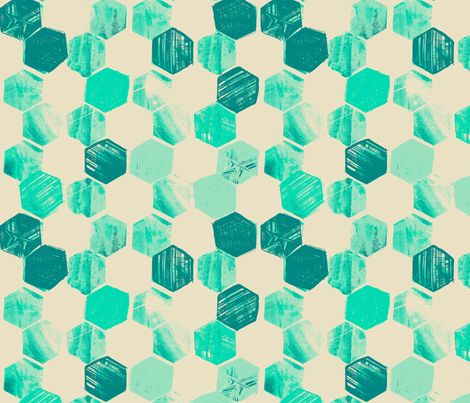 HEX_AQUATIC fabric by pattern_state on Spoonflower - custom fabric