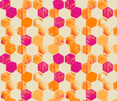 HEX_TANGERINE fabric by pattern_state on Spoonflower - custom fabric