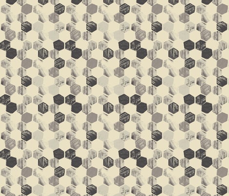MINI_HEX_SILVER fabric by pattern_state on Spoonflower - custom fabric