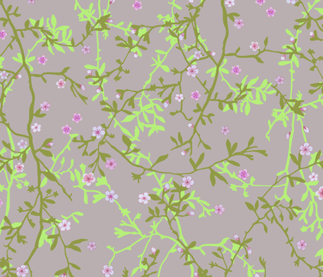 cherry neutral fabric by etoile_bleue on Spoonflower - custom fabric