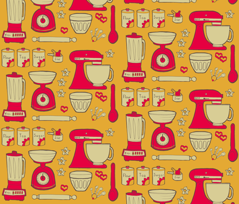 time for baking fun v.2 fabric by doris&fred on Spoonflower - custom fabric