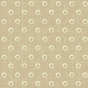 Rustic vintage polka dots pattern