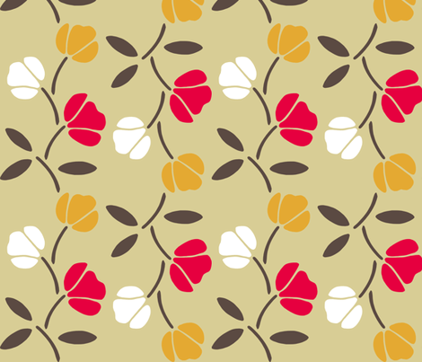 Retro Kitchen Linens fabric by meduzy on Spoonflower - custom fabric