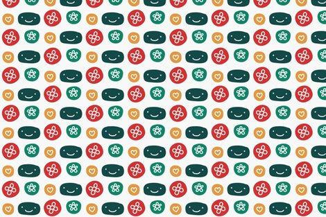 mini_pattern-01 fabric by katja_saburova on Spoonflower - custom fabric