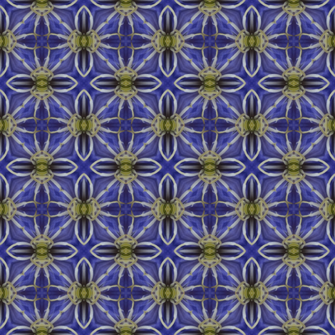 Flower Power - Clematis 3 fabric by dovetail_designs on Spoonflower - custom fabric