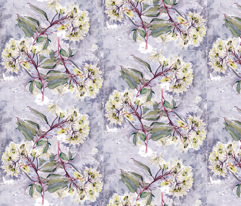 trio gum botanical fabric by susanquekett on Spoonflower - custom fabric