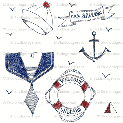 little blue sailor