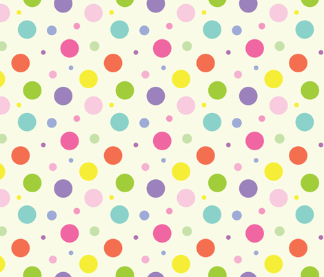 Multi Color Polka Dots fabric by donnamarie on Spoonflower - custom fabric